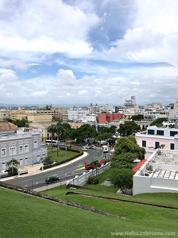 View of Old San Juan from Castillo San Cristóbal, part of the San Juan National Historic Site and one of the best things to do in San Juan, Puerto Rico! | Hello Little Home