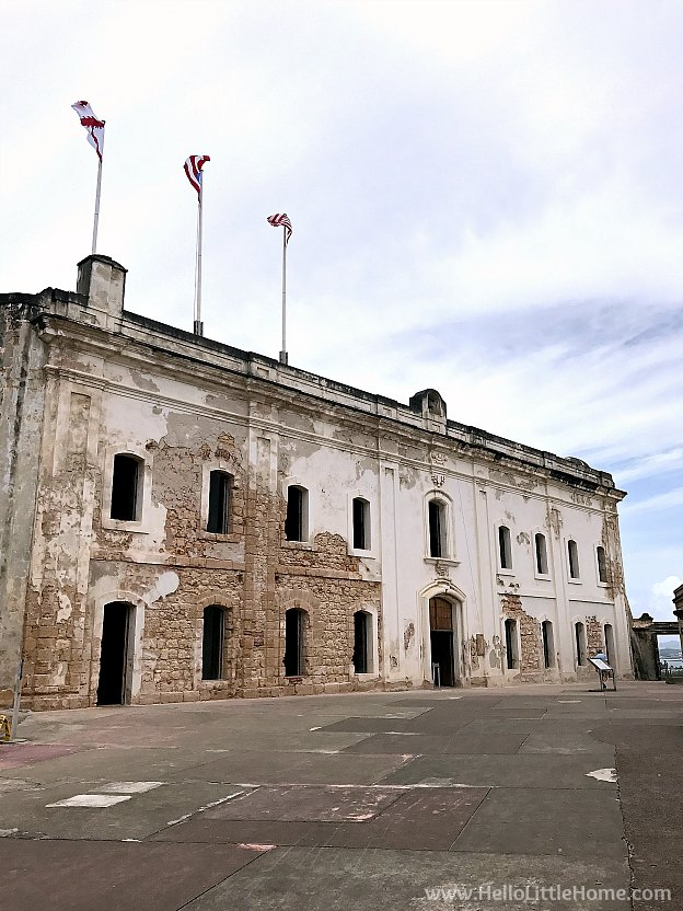 Troops Quarters in Castillo San Cristóbal, part of the San Juan National Historic Site and one of the best things to do in San Juan, Puerto Rico! | Hello Little Home