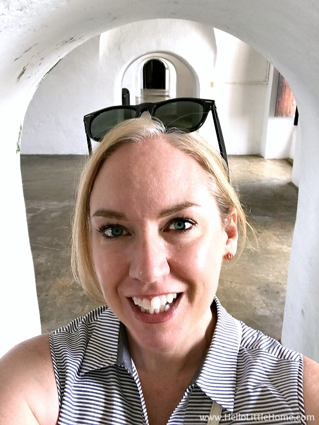 Selfie inside the Troops Quarters in Castillo San Cristóbal, part of the San Juan National Historic Site and one of the best things to in San Juan, Puerto Rico! | Hello Little Home