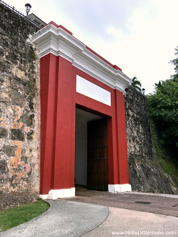 San Juan Gate … this historic gate in the city walls of Old San Juan is part of the San Juan National Historic Site ... one of the best things to do in San Juan, Puerto Rico! | Hello Little Home
