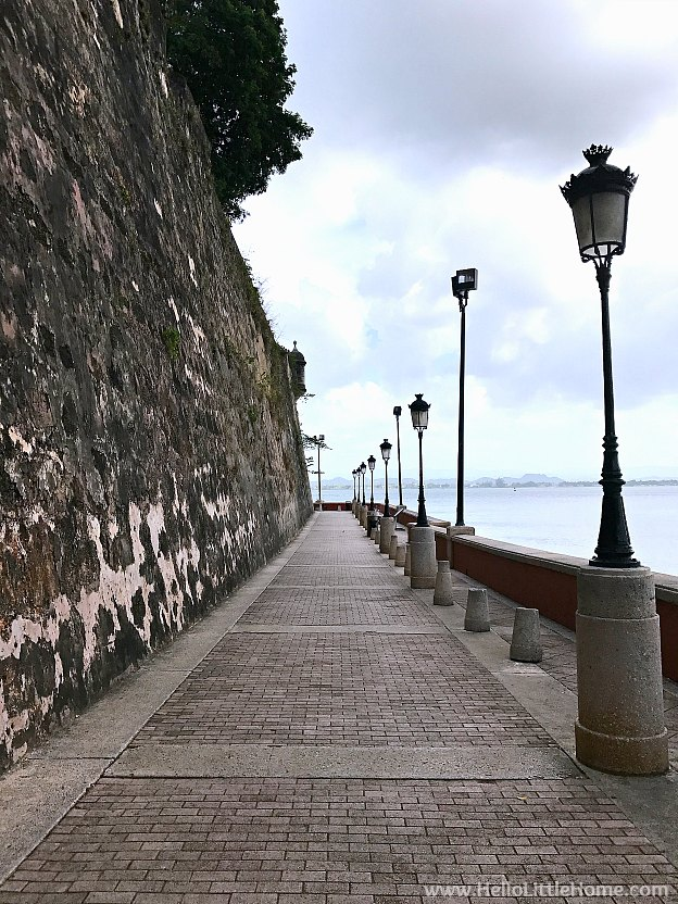 Exploring the city walls of Old San Juan outside of the San Juan Gate, part of the San Juan National Historic Site ... one of the best things to do in San Juan, Puerto Rico! | Hello Little Home