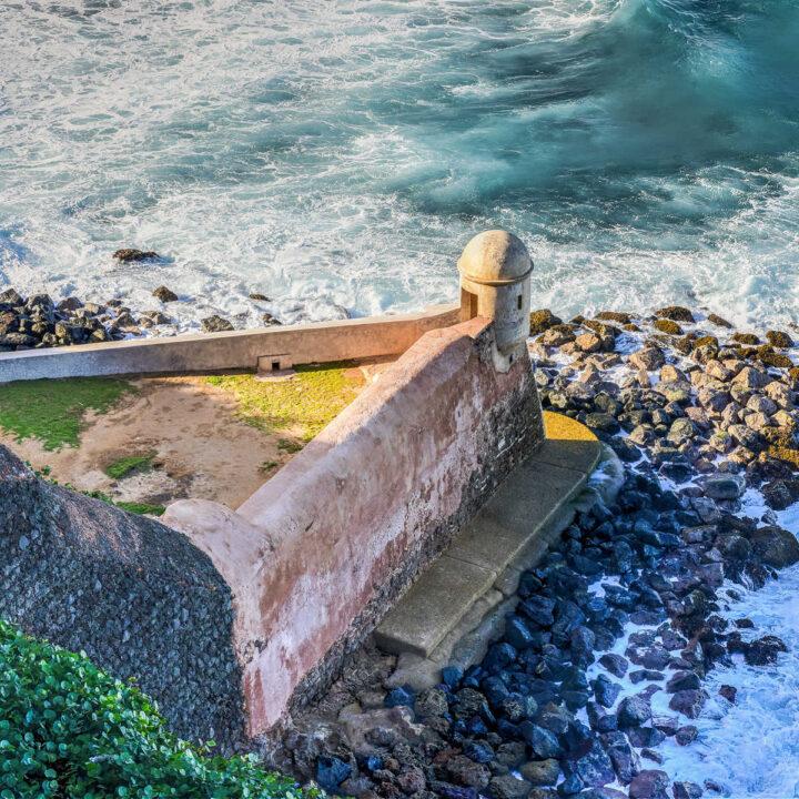 A sentry box (La Garita del Diablo) at a fort in San Juan, Puerto Rico.