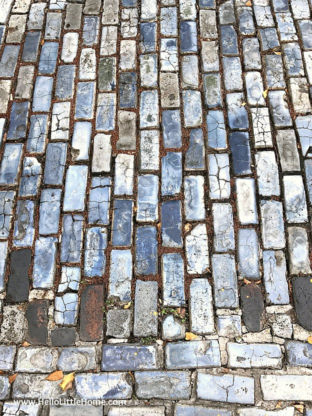 Blue Cobblestones in Old San Juan | Hello Little Home