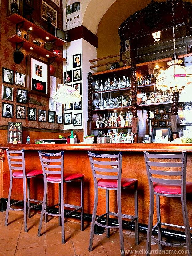 Inside of Cinema Bar 1950 in Old San Juan | Hello Little Home