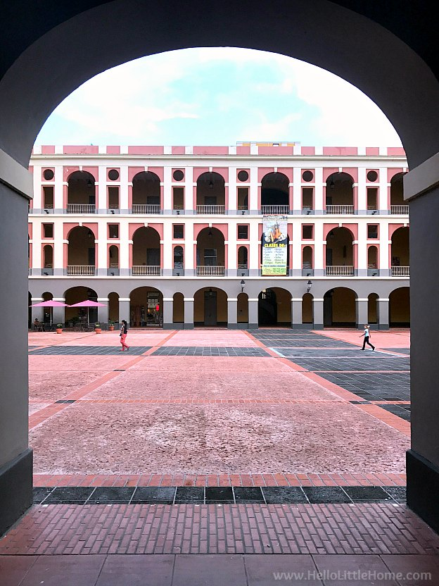 Museo de las Americas Plaza in Old San Juan | Hello Little Home