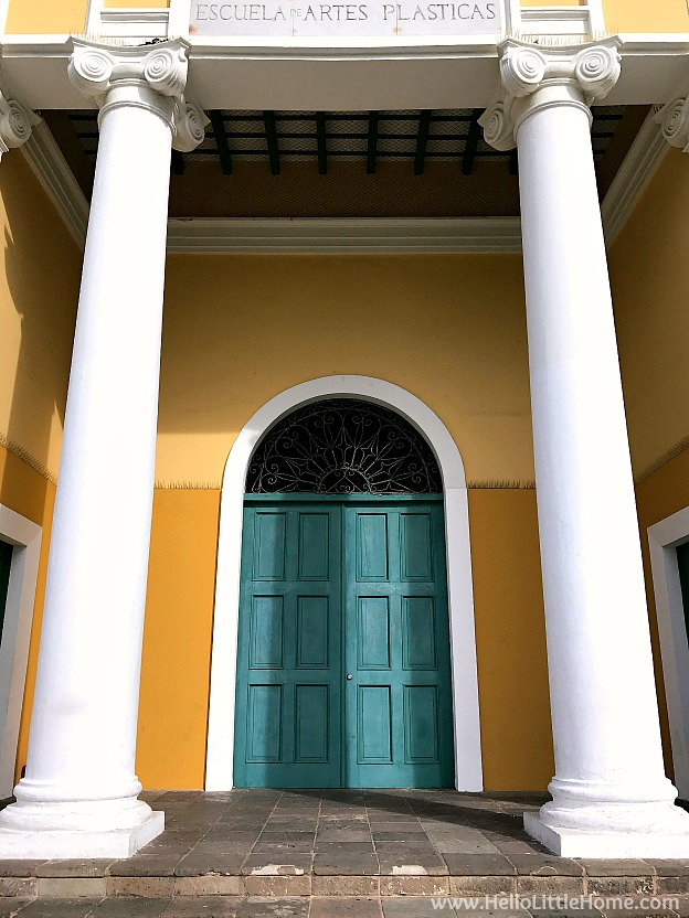 Colorful Building and Door in Old San Juan | Hello Little Home