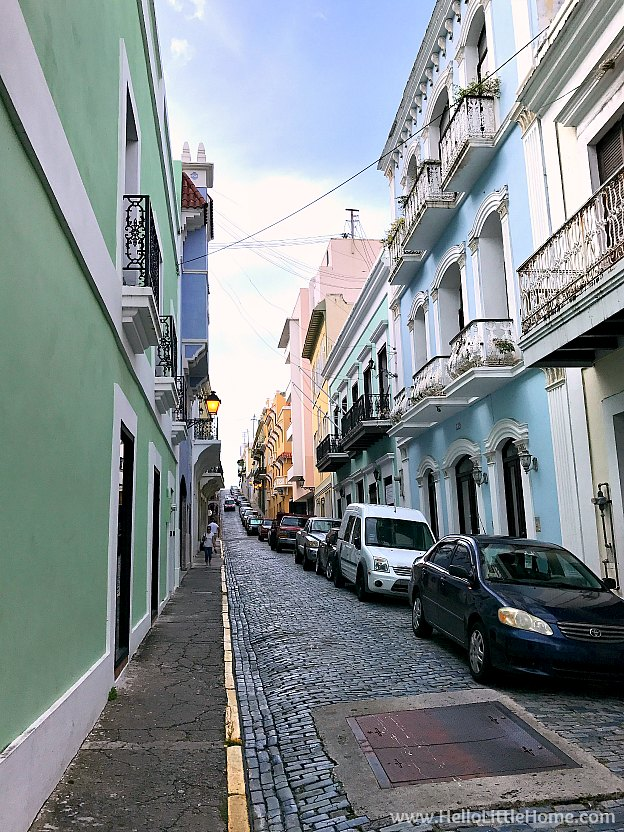 Colorful Street in Old San Juan | Hello Little Home