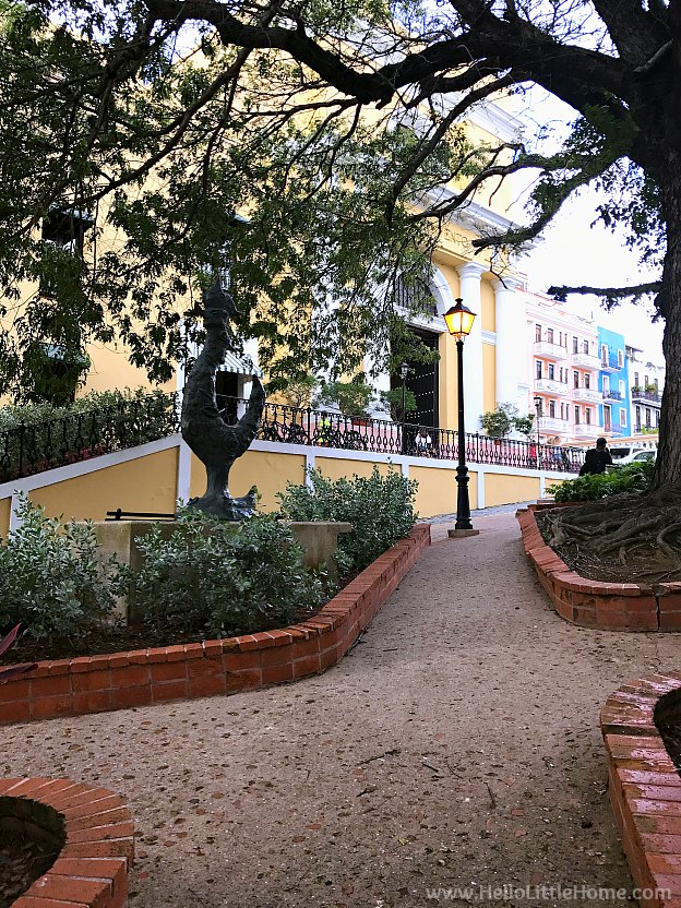 Plaza along Calle Del Cristo in Old San Juan | Hello Little Home