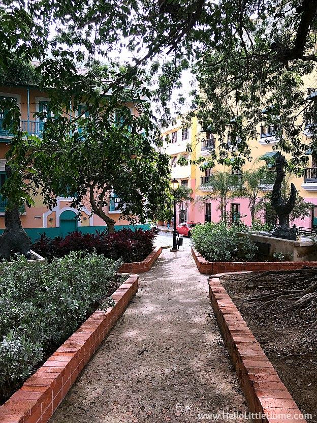 Plaza along Calle Del Cristo in Old San Juan | Hello Little Home