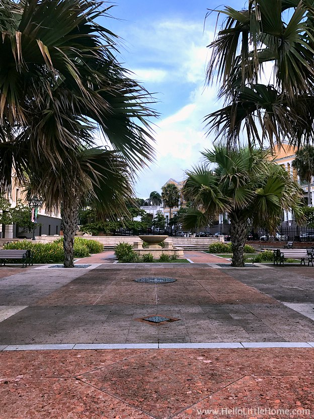 Plaza along Calle Norzagaray in Old San Juan | Hello Little Home