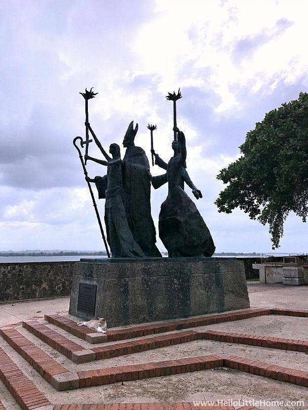 Monument in Plazuela de Rogativa in Old San Juan | Hello Little Home