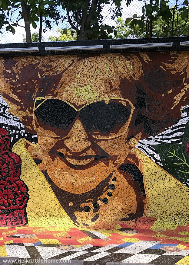 Part of a 450-feet-long mosaic mural honoring Felisa Rincon de Gautier, mayor of San Juan from 1946 to 1969. | Hello Little Home