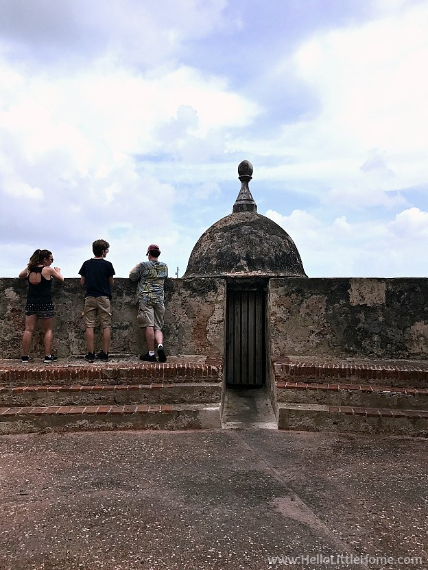 Looking over the historic wall in Old San Juan | Hello Little Home