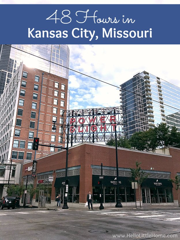 48 Hours in Kansas City, Missouri! Fun things to do in Kansas City, Missouri, including restaurants and food, attractions, art and murals, downtown, Power and Light, BBQ, history, and more ideas, on a weekend getaway. Great ideas for what to do in Kansas City, plus tons of vacation and travel tips and photos! | Hello Little Home