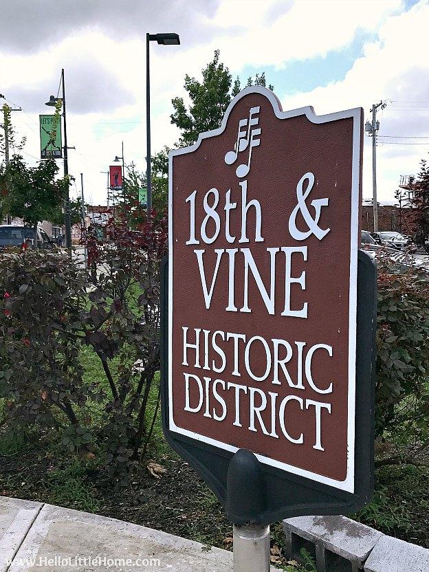 Plaque marking 18th & Vine Historic District, Kansas City