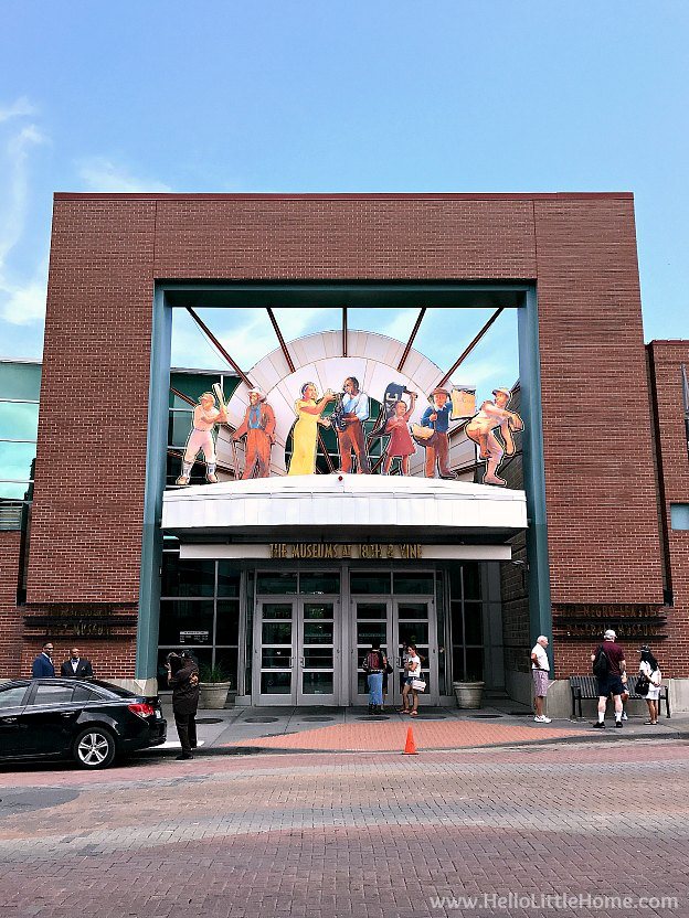 Entrance to Jazz Museum and Negro Leagues Museum in Kansas City, Missouri