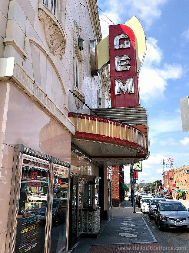 Gem Theater in 18th & Vine neighborhood, Kansas City