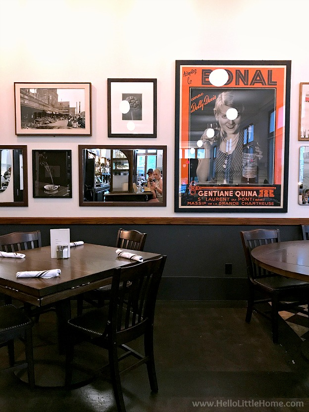 Interior of Brown & Loe restaurant in Kansas City, Missouri