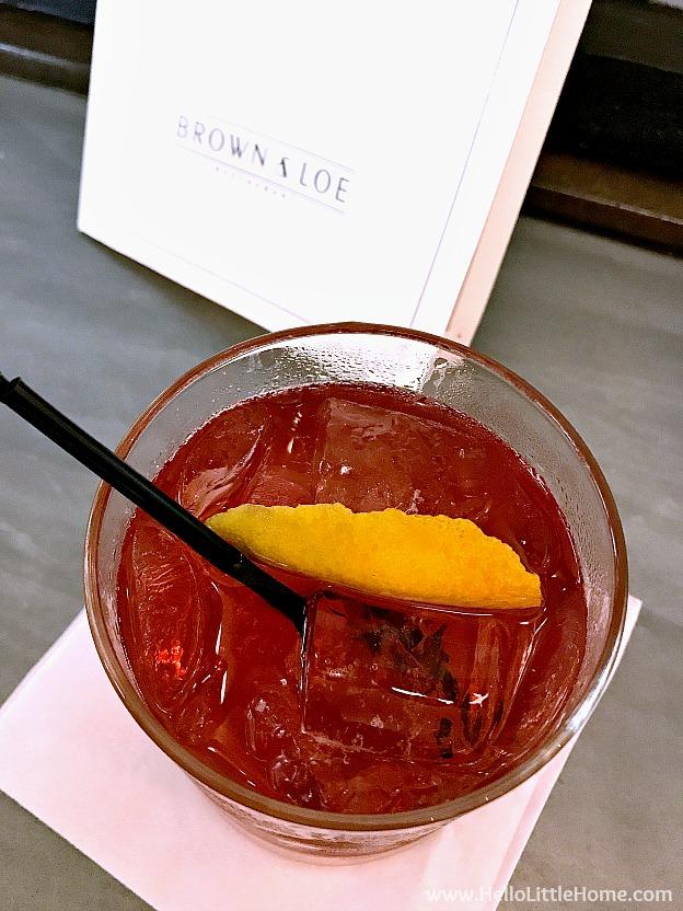 Cocktail at Brown & Loe restaurant in Kansas City, Missouri