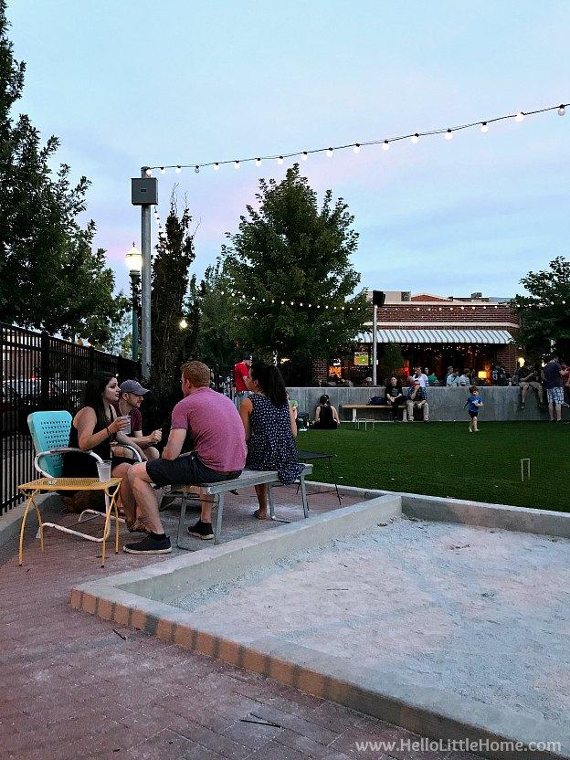Outside area at Char Bar in Kansas City, Missouri