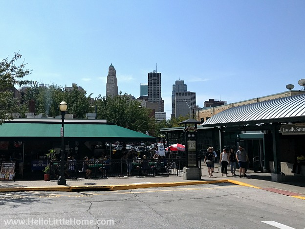 View of downtown from City Market in Kansas City, Missouri