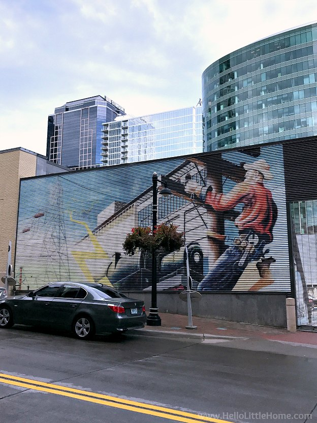 Mural in downtown Kansas City, Missouri