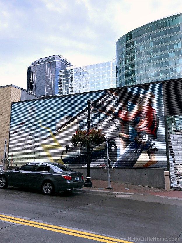 Mural in downtown Kansas City, Missouri