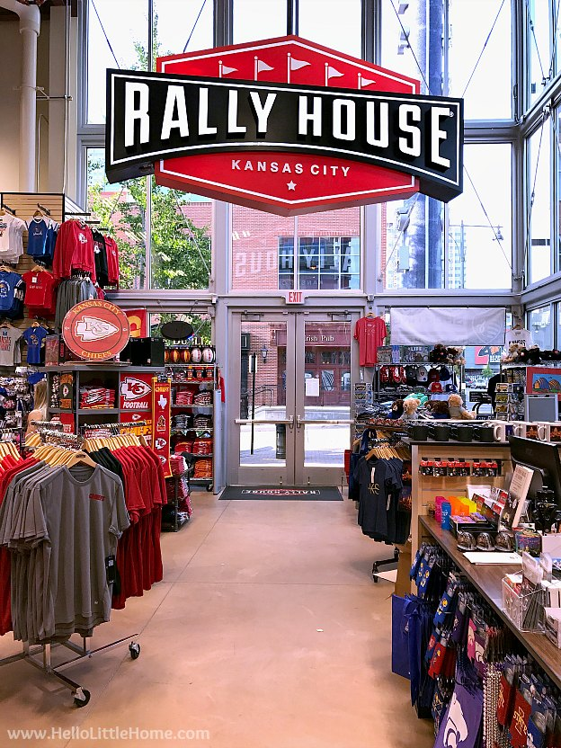 Rally House Store in downtown Kansas City, Missouri in the Power & Light District