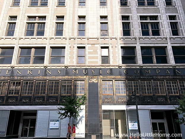 Vintage Building in downtown Kansas City, Missouri in the Power & Light District