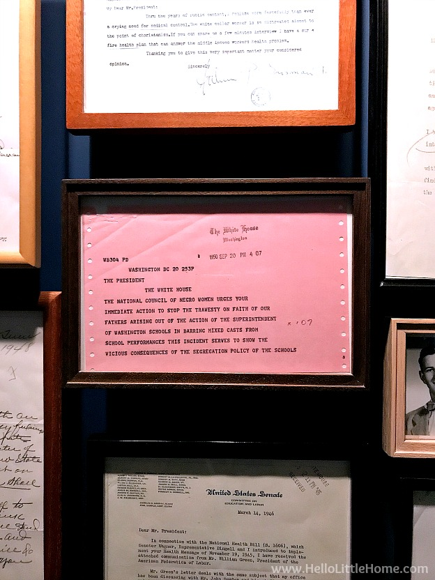 Letters at the Harry S. Truman Library and Museum | Hello Little Hom