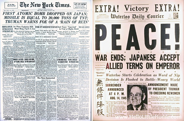 Newspapers from after the atomic bomb was dropped at the Harry S. Truman Library and Museum | Hello Little Hom
