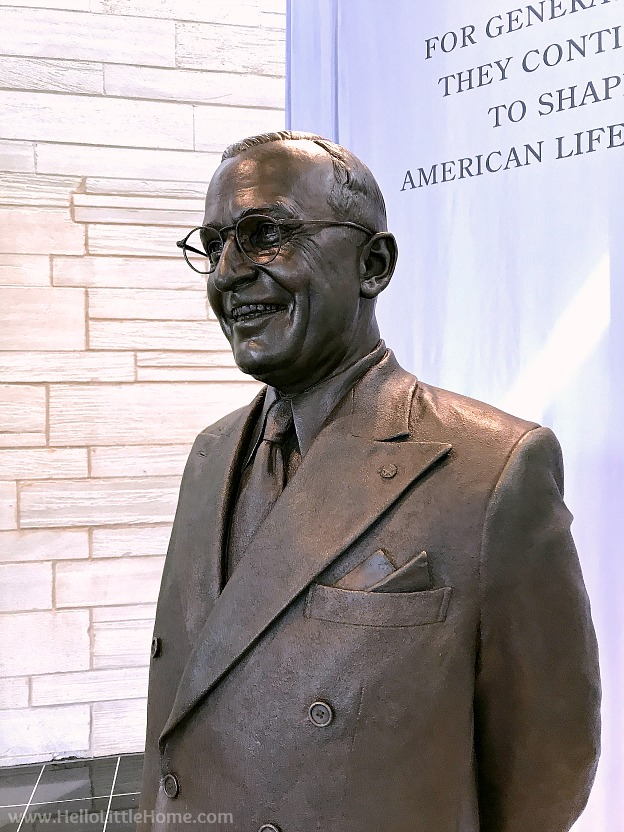 Statue of Harry S. Truman at the Library and Museum | Hello Little Hom