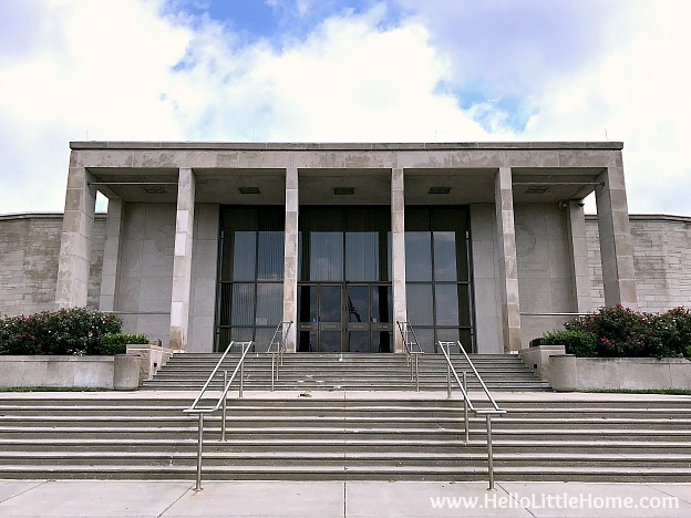 Exterior of the Harry S. Truman Library and Museum | Hello Little Hom