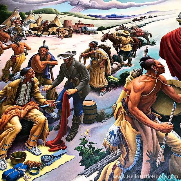 Thomas Hart Benton mural at the Harry S. Truman Library and Museum | Hello Little Hom