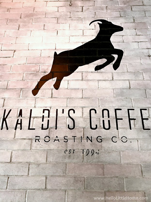 Kaldi's Coffee in downtown Kansas City, Missouri in the Power & Light District