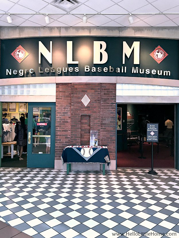 Entrance to Negro Leagues Baseball Museum in Kansas City, Missouri
