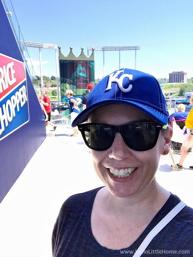 Me at Kansas City Royals Ball Park