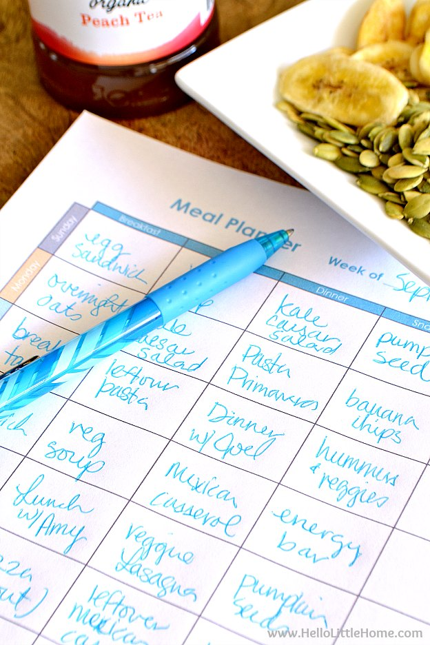 Creating a Weekly Meal Plan | Hello Little Home