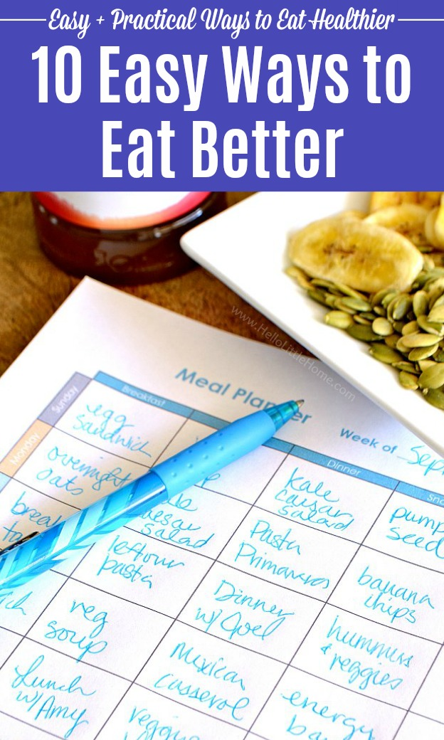 Creating a meal plan.