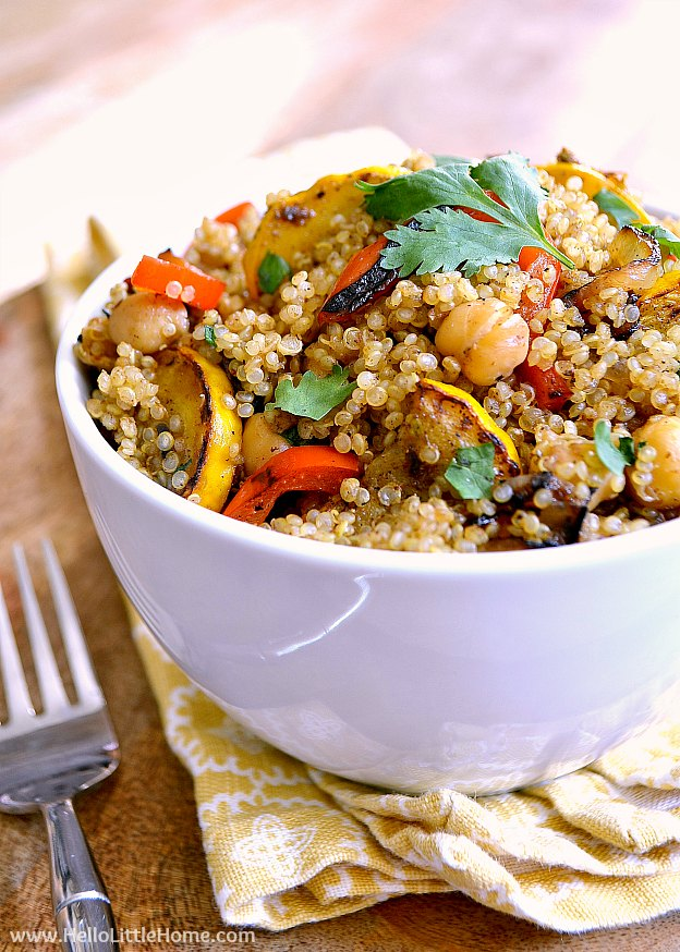 A Bowl of Quinoa and Veggies | Hello Little Home