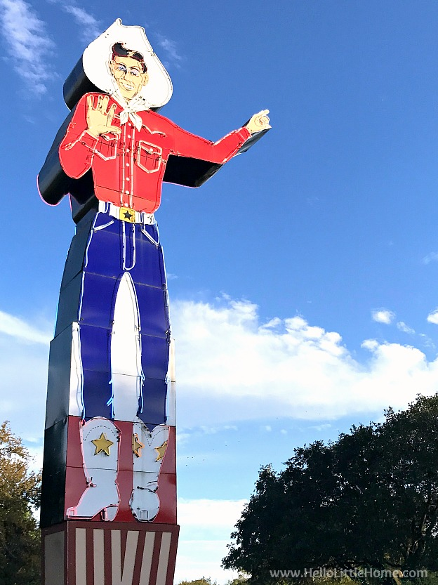 Neon Big Tex at the State Fair of Texas | Hello Little Home