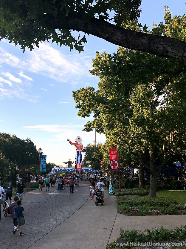 View of both Big Tex's at the Texas State Fair | Hello Little Home