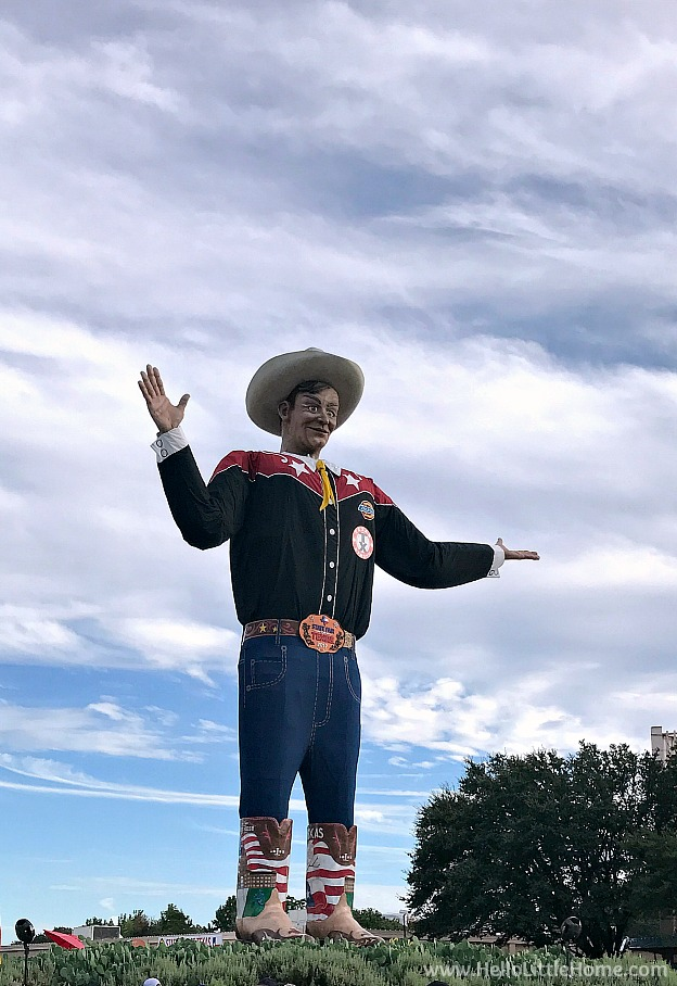 Big Tex at the State Fair of Texas | Hello Little Home
