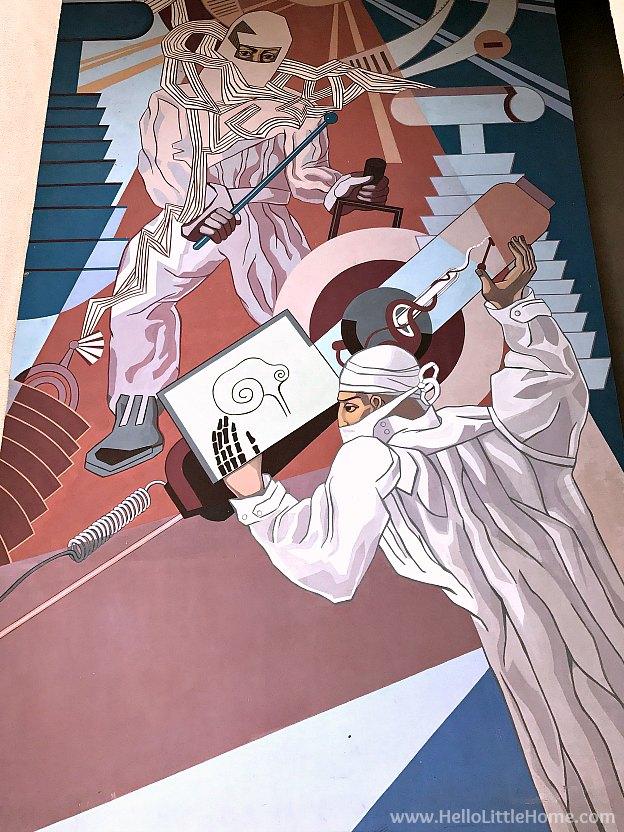 Mural on a building at Fair Park | Hello Little Home