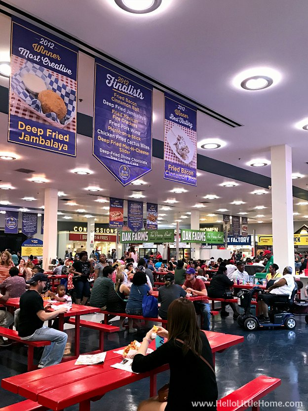 Food Hall at State Fair of Texas | Hello Little Home