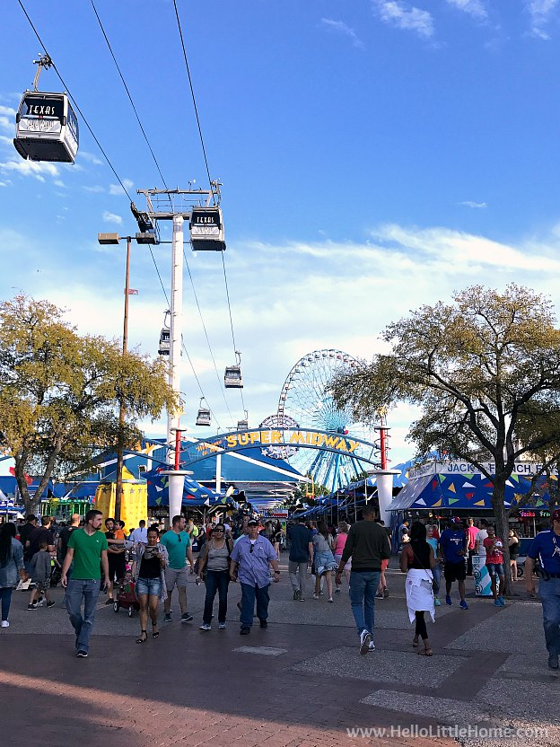 Entrance to the Midway at the Texas State Fair | Hello Little Home