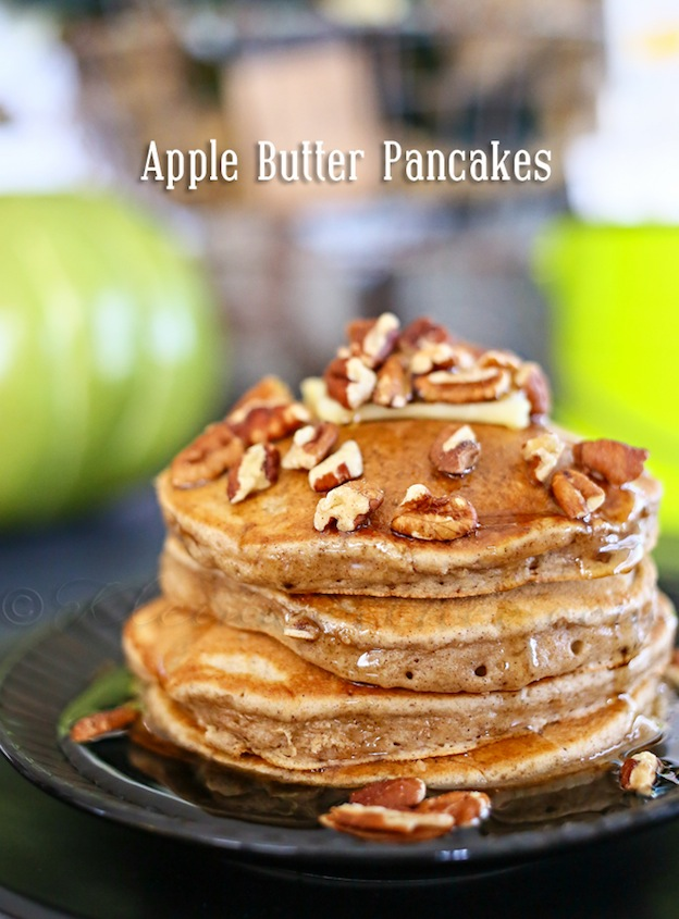 Apple Butter Pancakes from Kleinworth & Co. ... one of 100+ Vegetarian Comfort Food Recipes | Hello Little Home