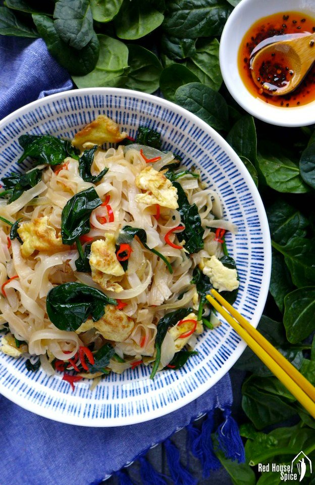 Egg Fried Rice Noodles from Red House Spice ... one of 100+ Vegetarian Comfort Food Recipes | Hello Little Home