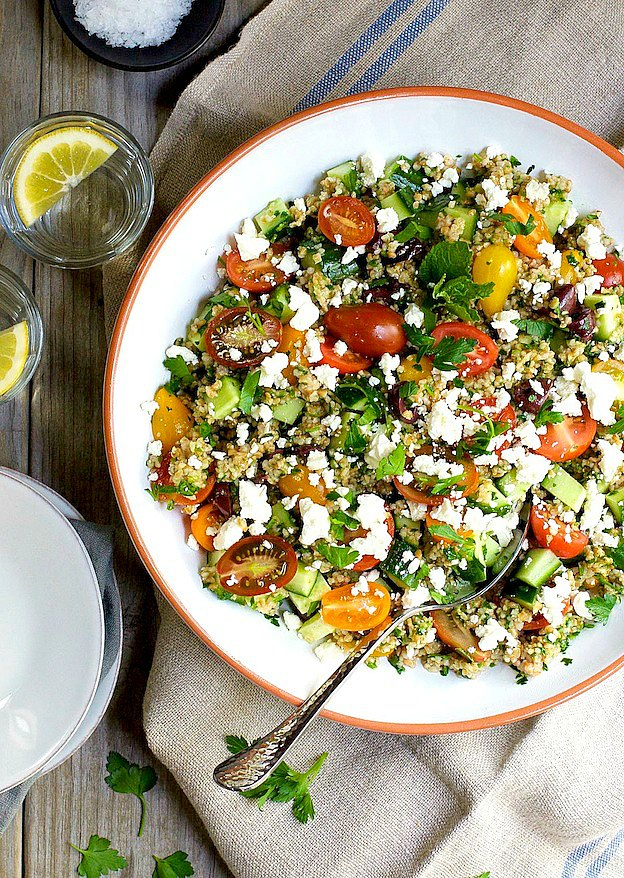 Tabouli Salad from Pinch and Swirl ... one of 100+ Vegetarian Comfort Food Recipes | Hello Little Home