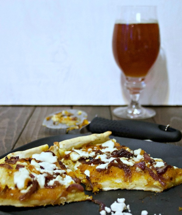 Butternut Squash Pizza from Brews and Chews ... one of 100+ Vegetarian Comfort Food Recipes | Hello Little Home